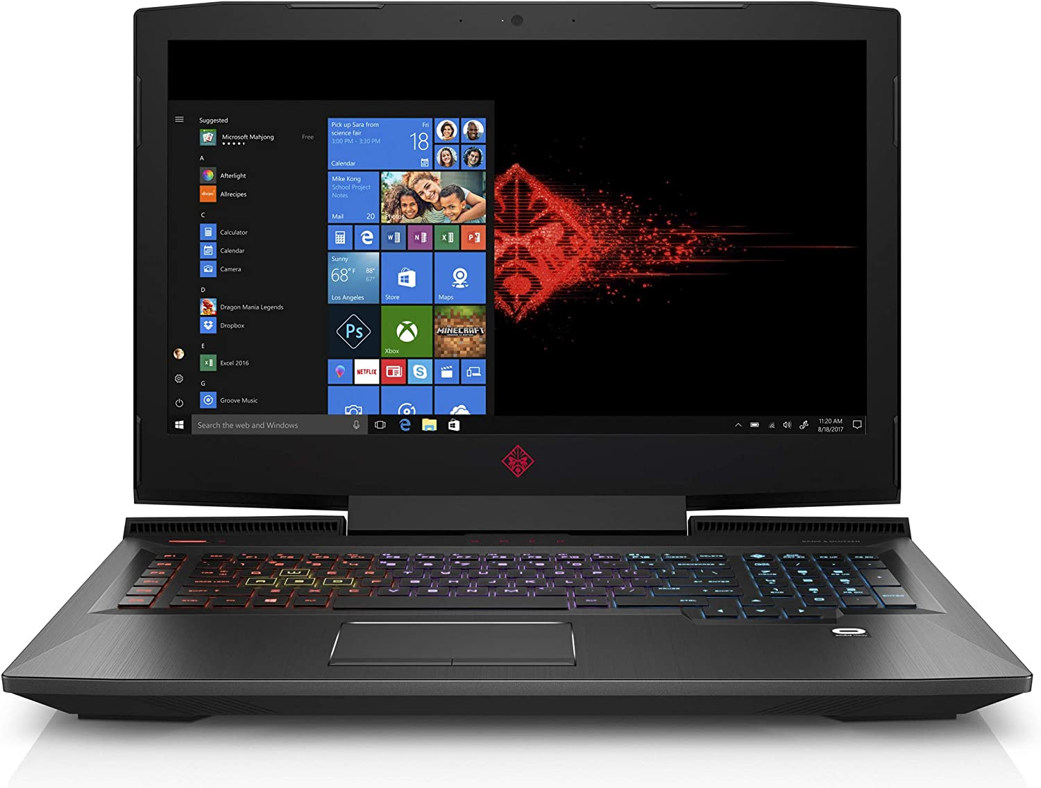 OMEN by HP 17-inch Gaming Laptop, 144Hz FHD IPS G-Sync Display, Intel i7-8750H Processor, NVIDIA GTX 1060 6GB, 16GB RAM, 128GB SSD, 1TB HDD, Win10H, 17-an120nr (Renewed)