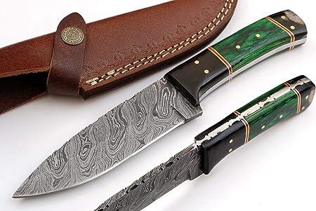 SharpWorld TJ109 - Cuchillo de damasco de 22,86 cm hecho de acero ...