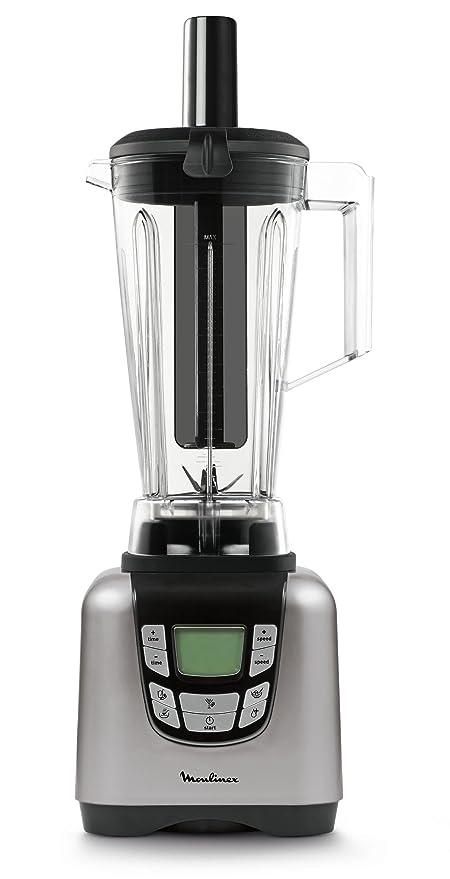 Moulinex UltraBlend LM935E10 Batidora de vaso de 1500 W y 6 programas automáticos, 6 cuchillas acero inoxidable, pantalla digital intuitiva, vaso de ...