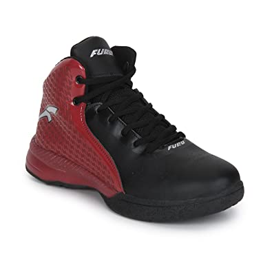 bdec2c37 FURO (by Red Chief Men's B8000 Black Basketball Shoes - 8 UK/India (42.5  EU)(B8000 747): Buy Online at Low Prices in India - Amazon.in