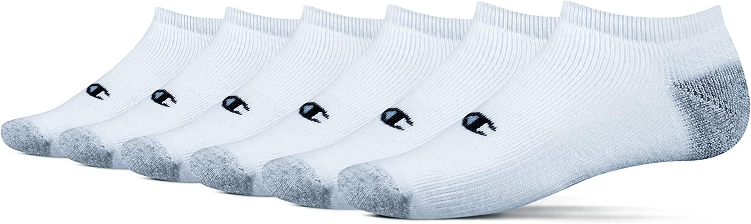 Men/'s Champion Performance no show ankle socks 6 pair Size 6-12 New