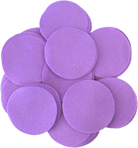 Playfully Ever After 1 Inch Purple 100pc Felt Circle Stickers
