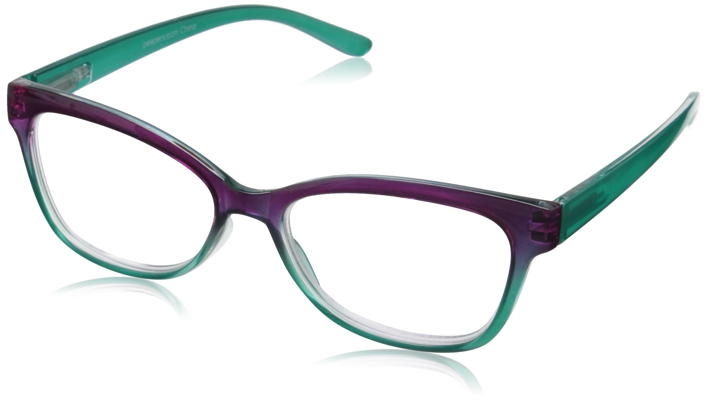 Peepers Women's Transcendent Oval Reading Glasses, Purple & Teal, 2.5