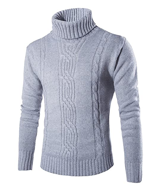 buy online c43fd f093e Maglione Dolcevita Uomo Maglia Pullover Slim Fit Aderente Collo Alto