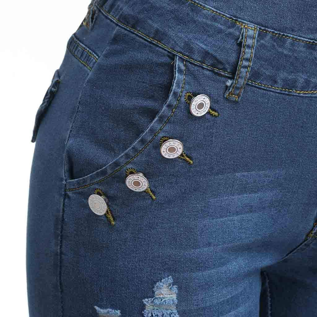 Jeans Stretch a Gamba Larga Slim Fit da Donna Plus Size Pantaloni a Vita Bassa Skinny a Vita Alta in Denim