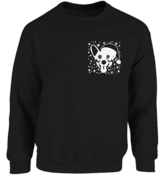 vizor christmas corgi pocket sweatshirt corgi dog christmas sweater for men and women xmas gifts for