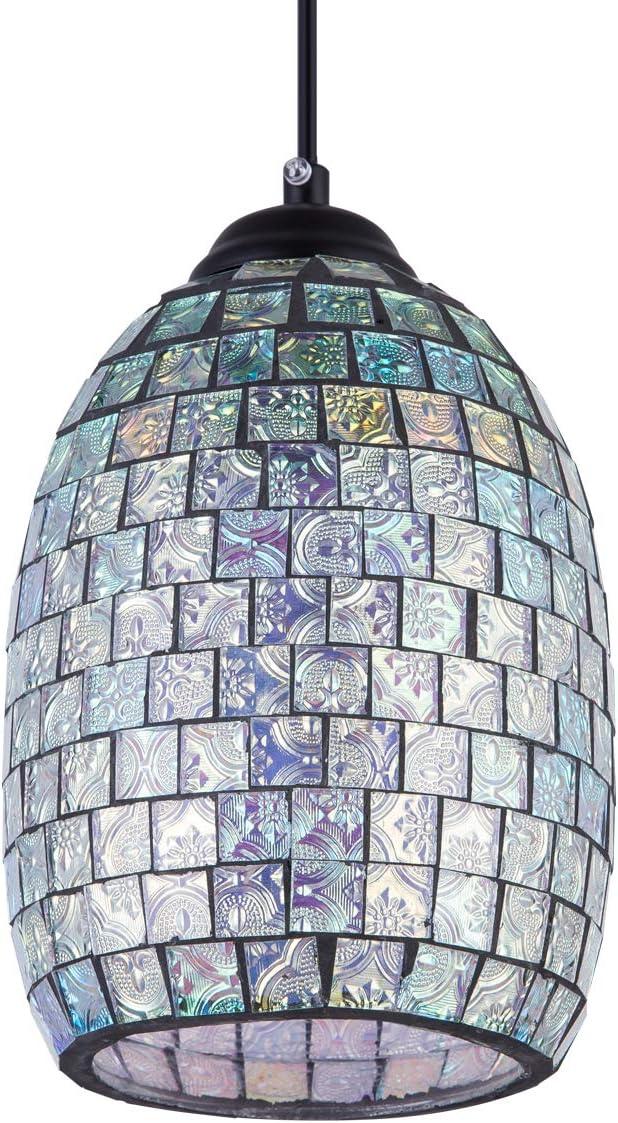 H A Industrial Lighting Decorative Chandelier Pendant Lighting Fixture Vintage Ceiling Light with Edison Led Bulbs Cuboid