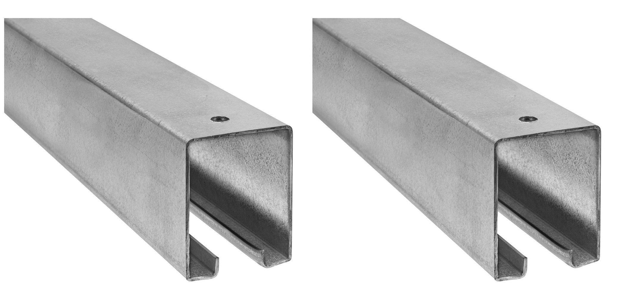 National Hardware N105-726 5116 Plain Box Rail in Galvanized, 8' (Pack of 2)