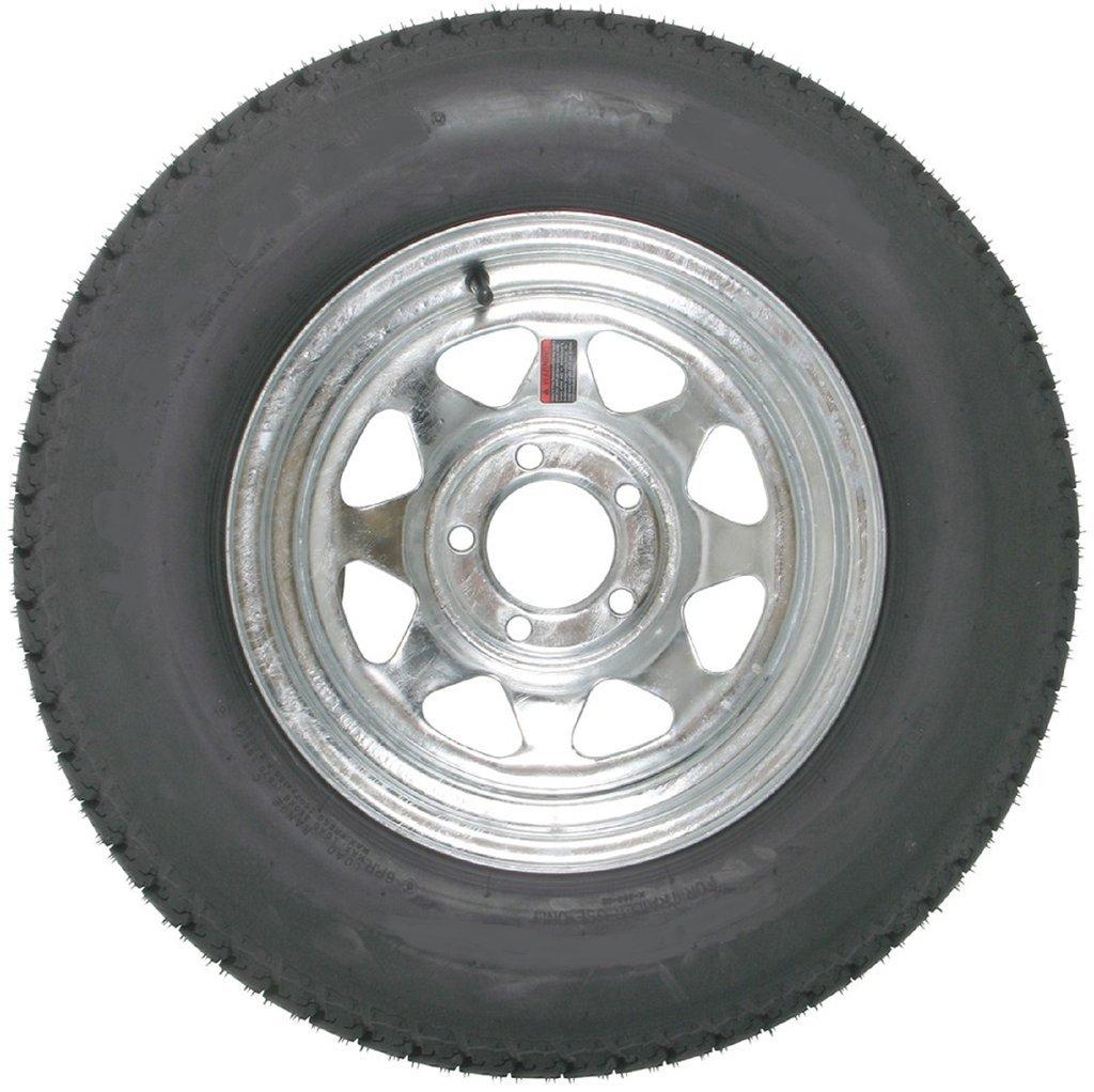 eCustomRim Eco Trailer Tire On Galvanized Rim ST215/75D14 Load C 5 Lug On 4.5 14x6 Wheel