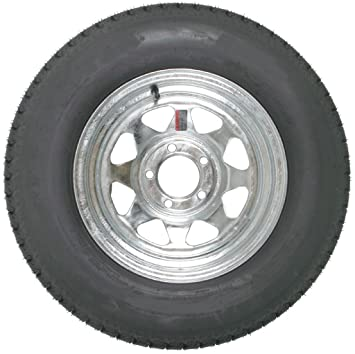 Amazon Com 13 Inch Galvanized Steel Spoke Trailer Wheel 5 X 4 5 And