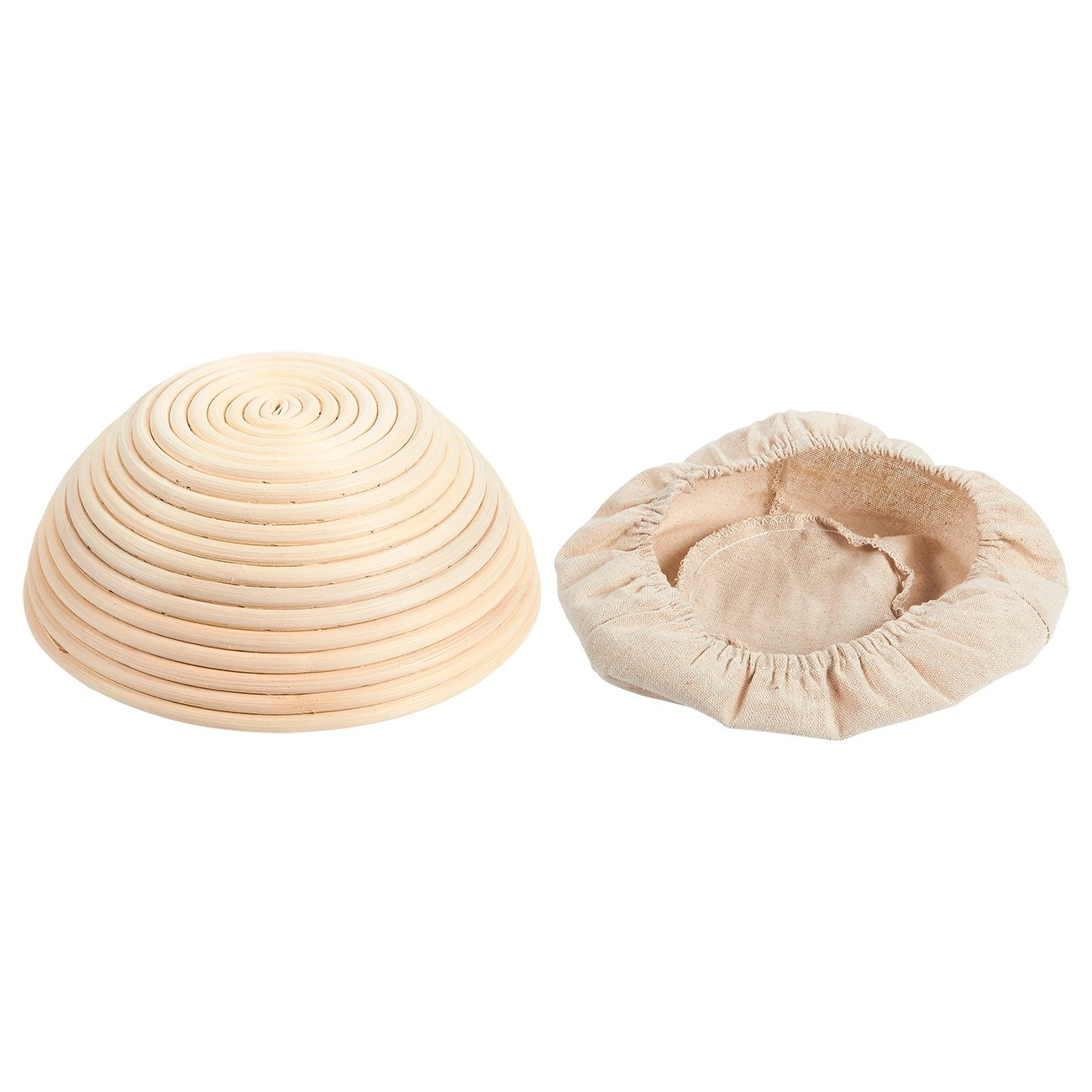 Banneton Proofing Basket Set - Baking Kit Including Rattan Basket, Cotton Liner Cloth, Dough Scraper and 8 Different Xmas Themed Stencils - Perfect for Artisan Bread Making Juvale