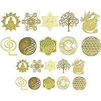 ULTNICE 20Pcs Heilige Geometrie Koper Stickers Decals Orgone Stickers Piramide Stickers Hars Levert Kit Voor Siliconen…