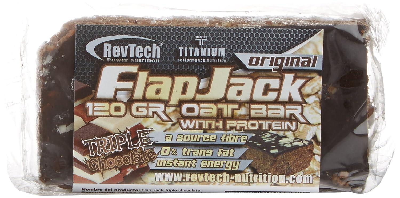 Revtech Flapjack, Suplemento para Deportistas, Sabor Triple Chocolate - 24 Flapjacks: Amazon.es: Salud y cuidado personal