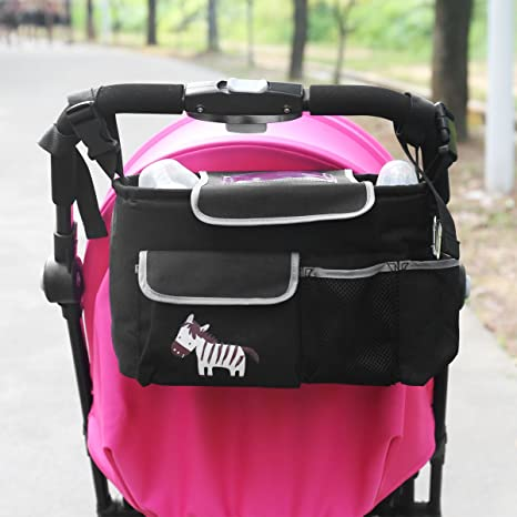 Zuoao Bolsa Organizador Almacenamiento para Cochecito de Bebé o Silla de Paseo Almacenamiento con Pocket Flap con el Apoyo de Cabina Portátil ...