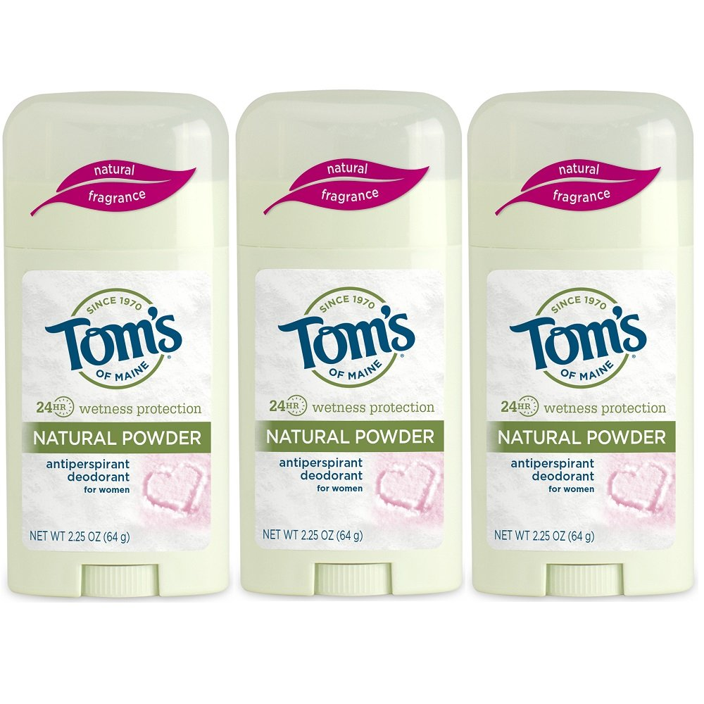 Tom's of Maine Women's Antiperspirant Deodorant Natural Powder - 2.25 Oz, Pack of 3 by Toms Of maine (Image #1)