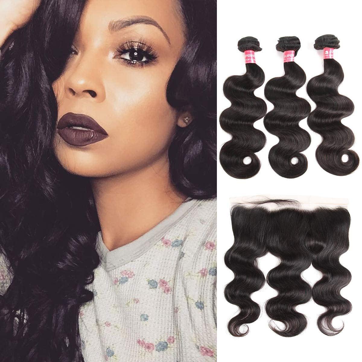 Amazon Supernova Brazilian Curly Virgin Hair Bundles With 13x4