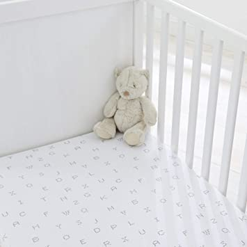 Grey Silentnight Fitted Crib Sheet 2 Pack