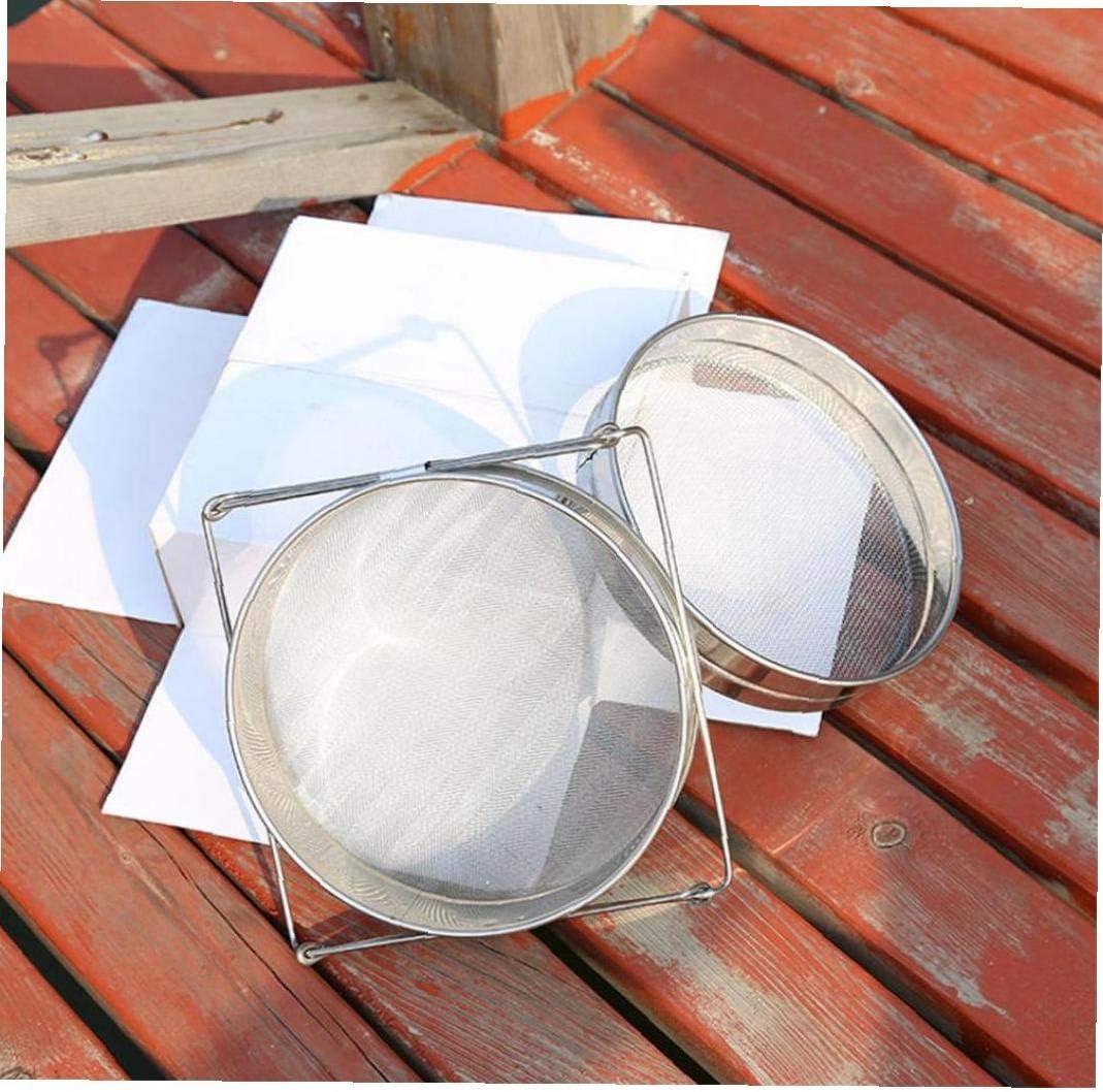 LAVALINK Filtro setaccio a Doppio Strato in Acciaio Inox Apicoltura Equipaggiamento di filtrazione Elemento Creativo Riutilizzabile Strumento di Protezione antiossidante Ambientale