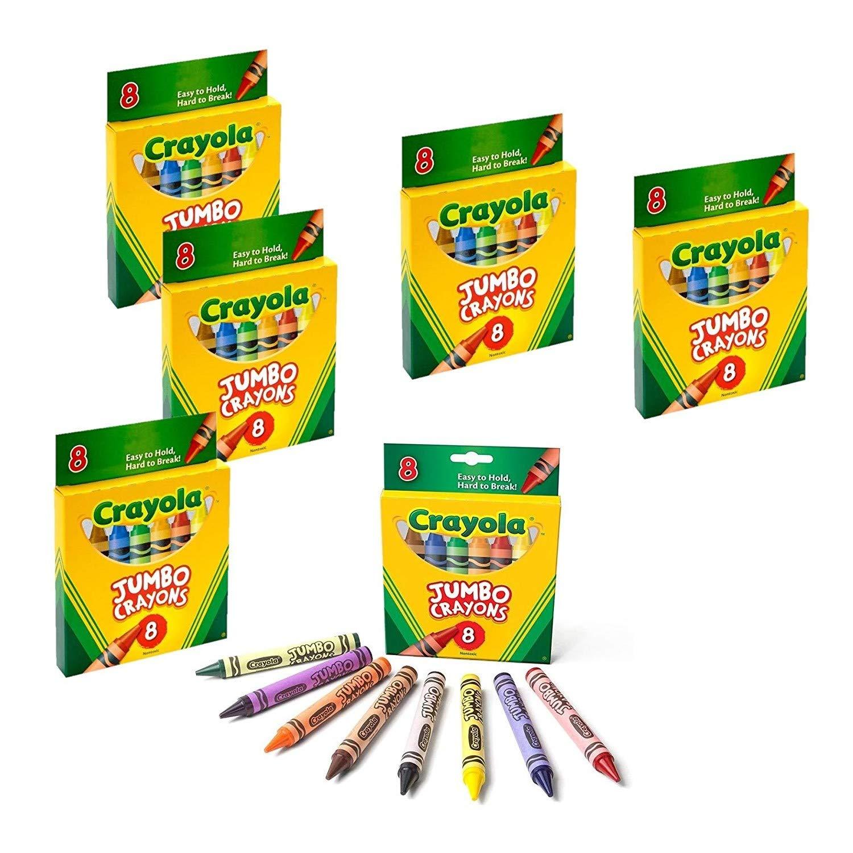 Crayons Jumbo 8ct Peggable Tuck Box [Set of 6]
