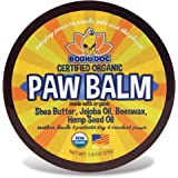 Organic Paw Balm for Dogs & Cats | All Natural Soothing & Healing for Dry Cracking Rough Pet Skin | Protect & Restore Cracked and Chapped Dog Paws & Pads