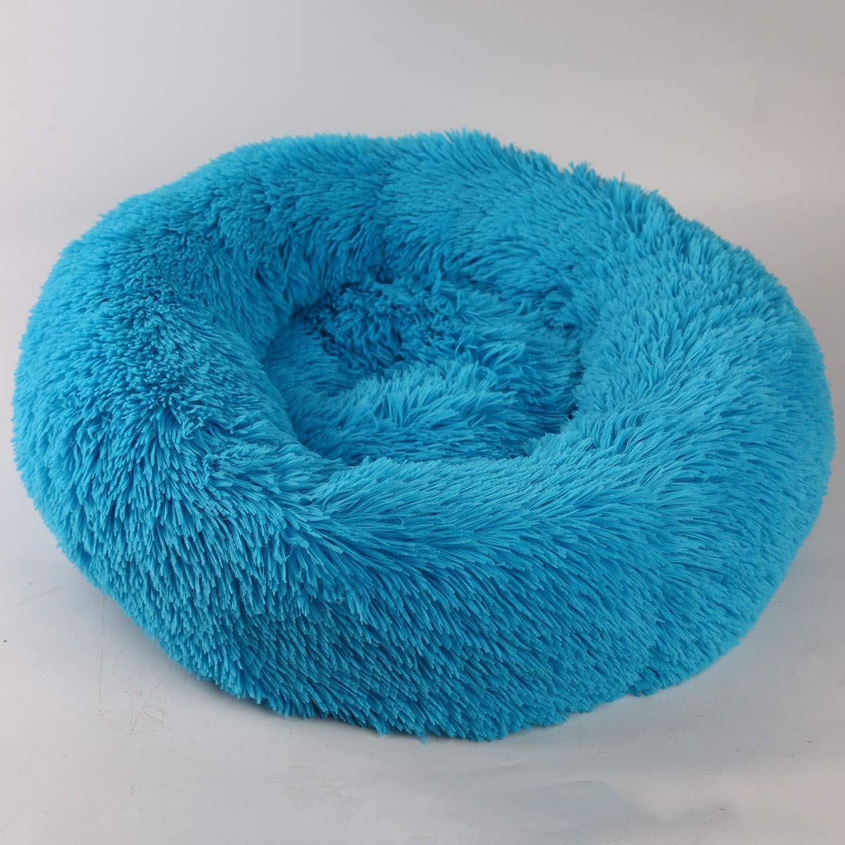 bluee Small bluee Small Plush Pet Nest, Teddy Cat Small Pet Dog Bed, Soft Cozy Warm Dog Cushion Warm Plush Non-Sticky Hair, Indoor Cat Litter and Kennel,bluee,S