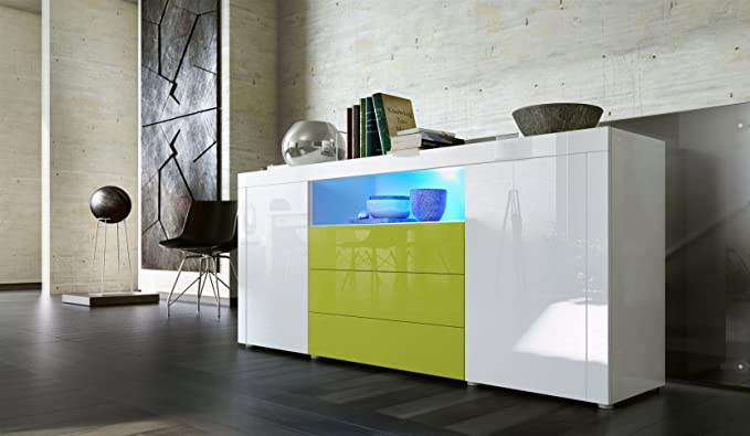Credenza Moderna Lunga : Credenza moderna diego c mobile per salotto di design in più