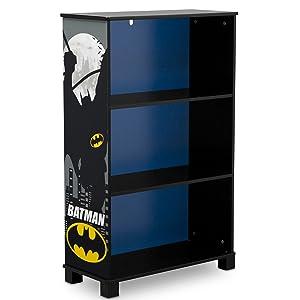Delta Children Deluxe 3 Shelf Book Case, DC Comics Batman
