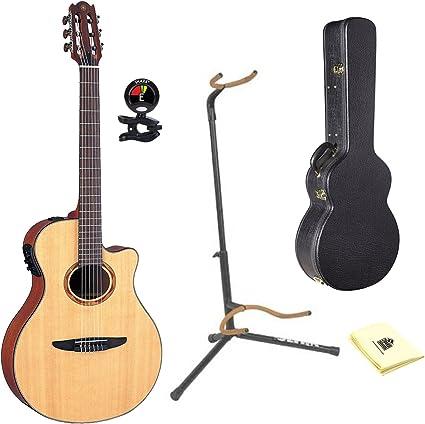 Yamaha guitarra electroacústica clásica con Yamaha ag2-hc carcasa ...
