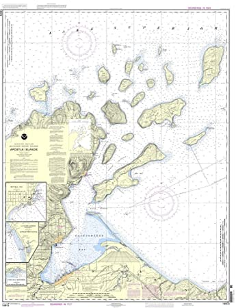 noaa chart apostle islands including