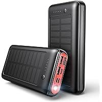 JIGA Power Bank 30000mAh, Cargador Solar Portátil con 4 Entradas y 3 Salidas y Linterna, Ultra Alta Capacidad Batería…