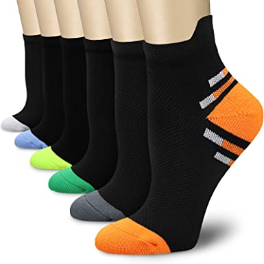 REXX 6 Pairs Compression Socks Multi #2, Large//X-Large for Men /& Women 15-20mmHg Diabetic Travel Shin Splints Varicose Veins Best Stockings for Running Pregnancy Athletic Medical