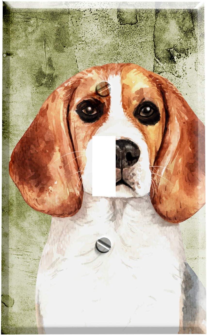 Amazon Com Gotham Decor Switch Plate Single Toggle Beagle Dog Portrait Light Switch Cover Garden Outdoor
