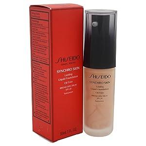 Shiseido Synchro Skin Lasting Liquid Women's SPF 20 Foundation, No. 3 Neutral, 1 Ounce