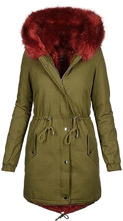 cde9f305e854c6 Golden Brands Selection Warme Damen Winter Jacke Winterjacke Parka  Teddyfell gefüttert Mantel B432 [B432-