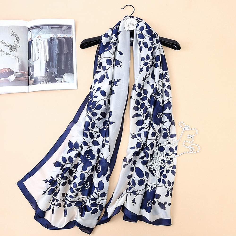 luxury women silk scarf bandana lady shawls wraps long size foulard hijabs