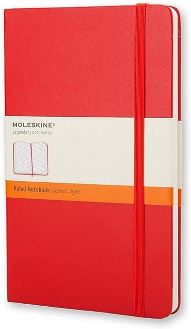 Oferta amazon: Moleskine - Cuaderno Clásico con Páginas Rayadas, Tapa Dura y Goma Elástica, Color Rojo Escarlata, Tamaño Pequeño 9 x 14 cm, 192 Páginas
