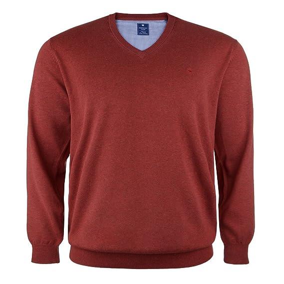 c9058e627b Redmond V-Neck Sweater Rust-red Oversize