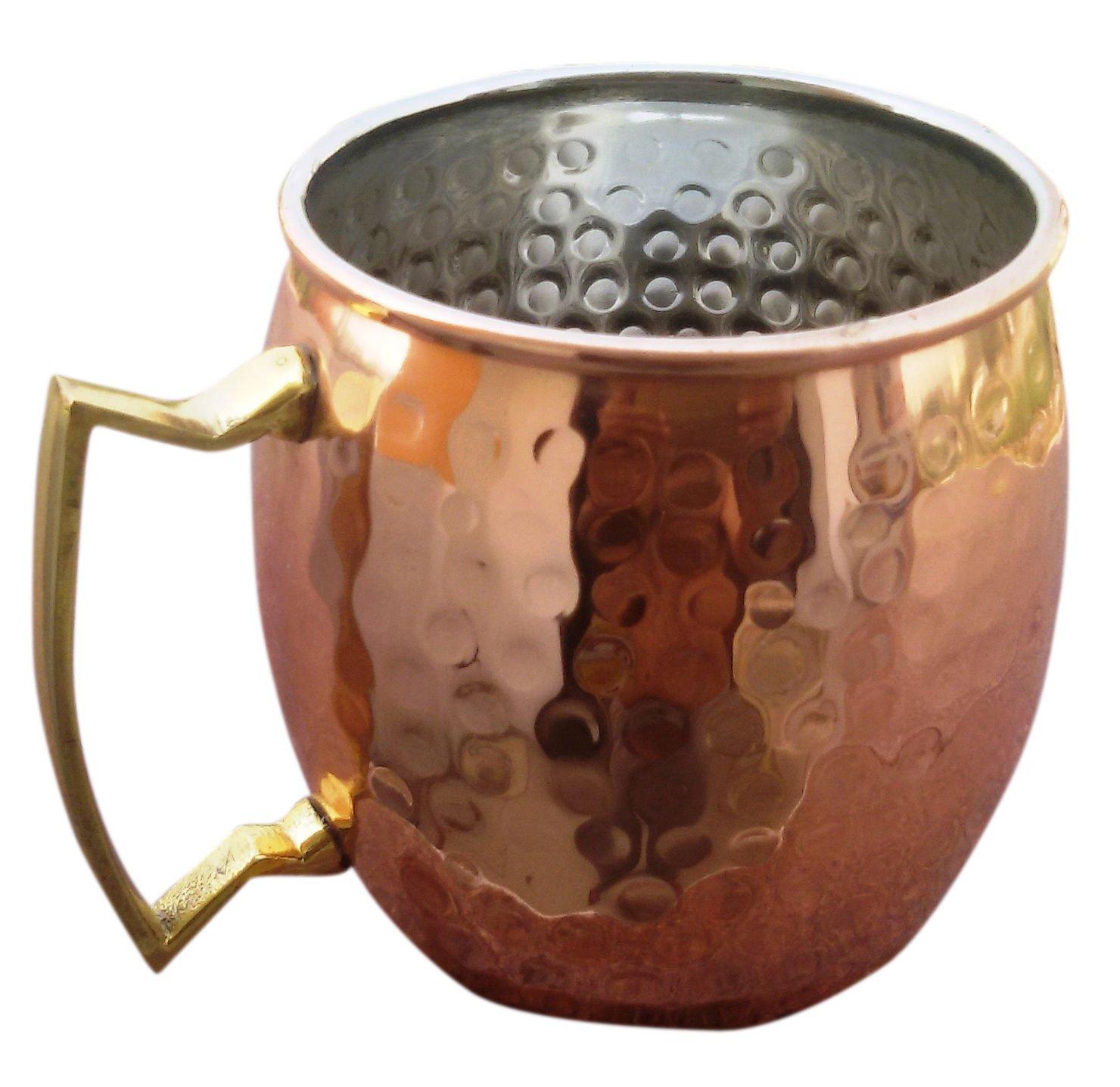 BonBon Luxury Moscow Mule Copper/Nickel Mug Cup 4 pack New (Copper) moscow Mule copper mug Moscow Mule Mug 4