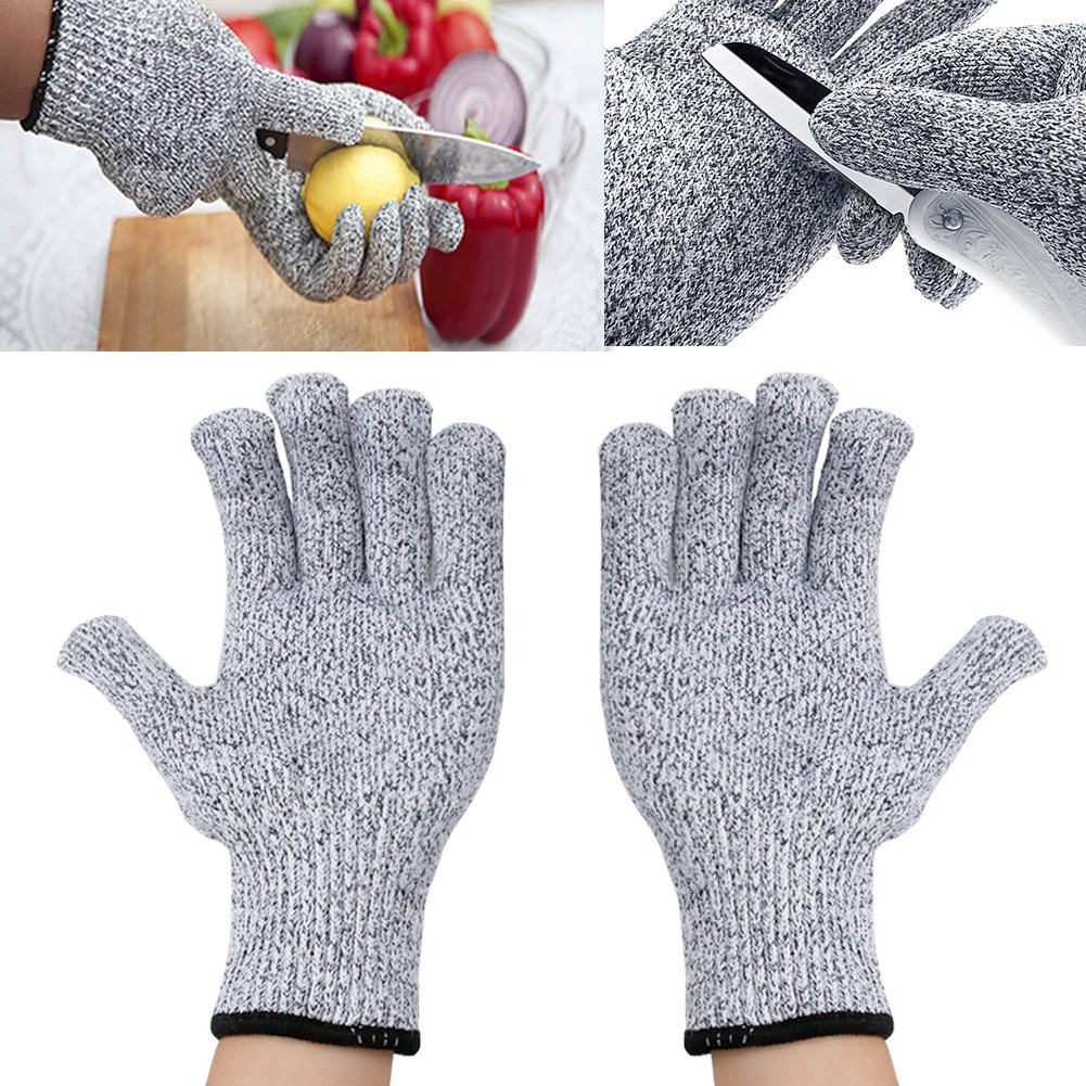YiZYiF Cut Resistant Gloves Best Food Grade Kitchen Level 5 Cut Protection Knit Safety for Cooking, Working, Wood carving by YiZYiF (Image #2)