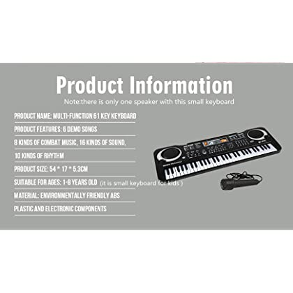 c89ad8046c1 ... 61 Key Keyboard Piano For Kids