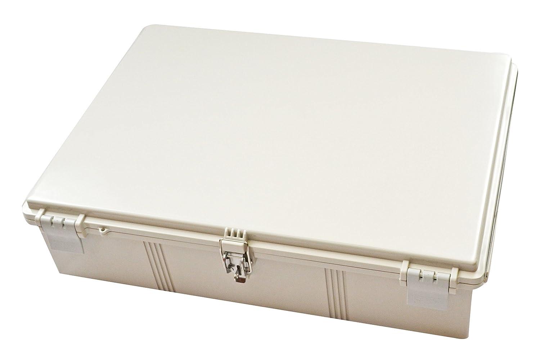 27-35//64 Length x 19-43//64 Width x 7-5//64 Height BUD Industries NBF-32344 Plastic Outdoor NEMA Economy Box with Solid Door Light Gray Finish