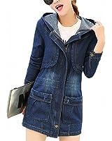 HOT Autumn Women Hooded Denim Jacket Women Coat Female Outerwear Clothing Windbreak Jacket Jean Zipper Loose