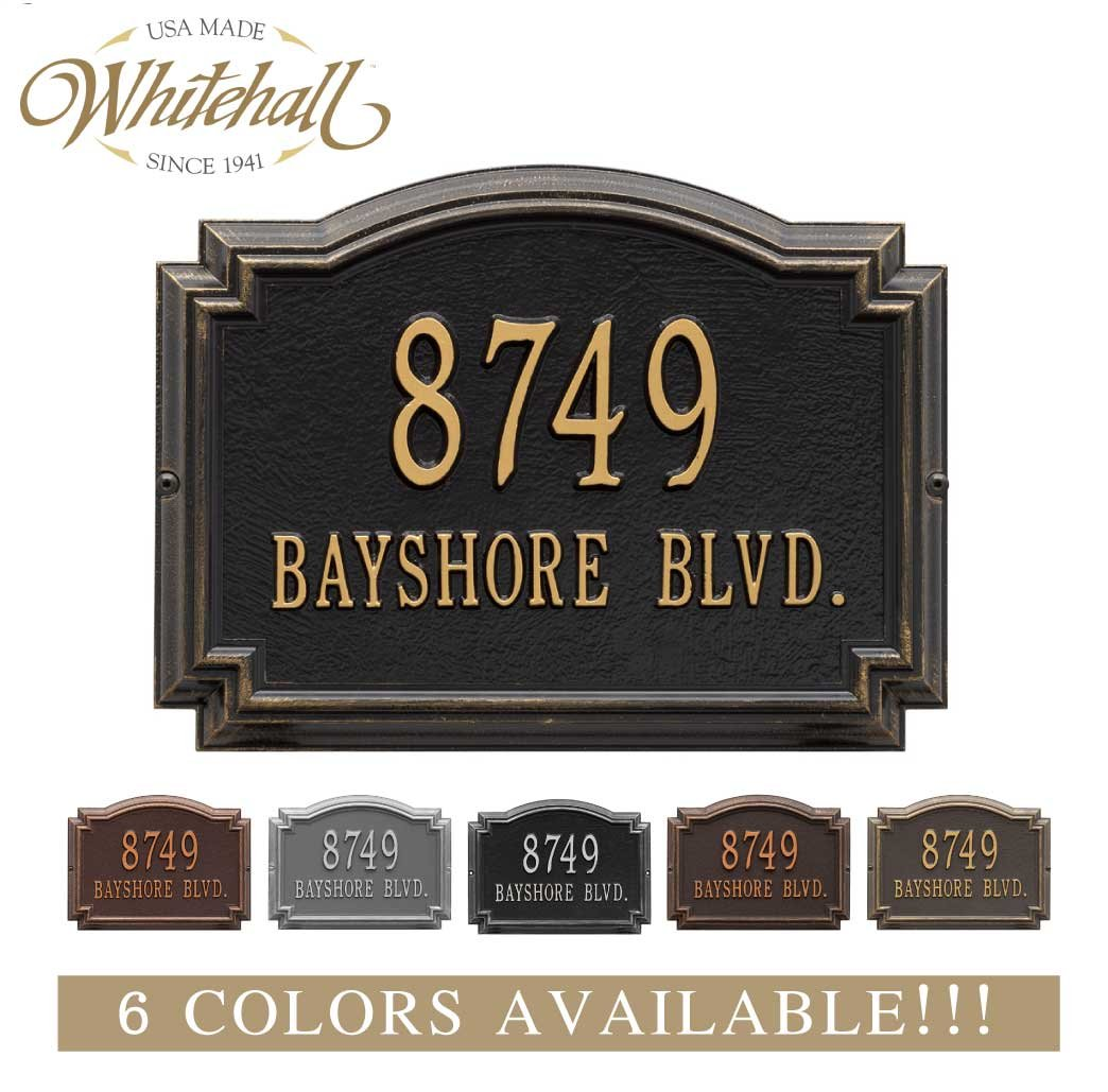 Cast Metal Address Sign. The Williamsburg Address Plaque