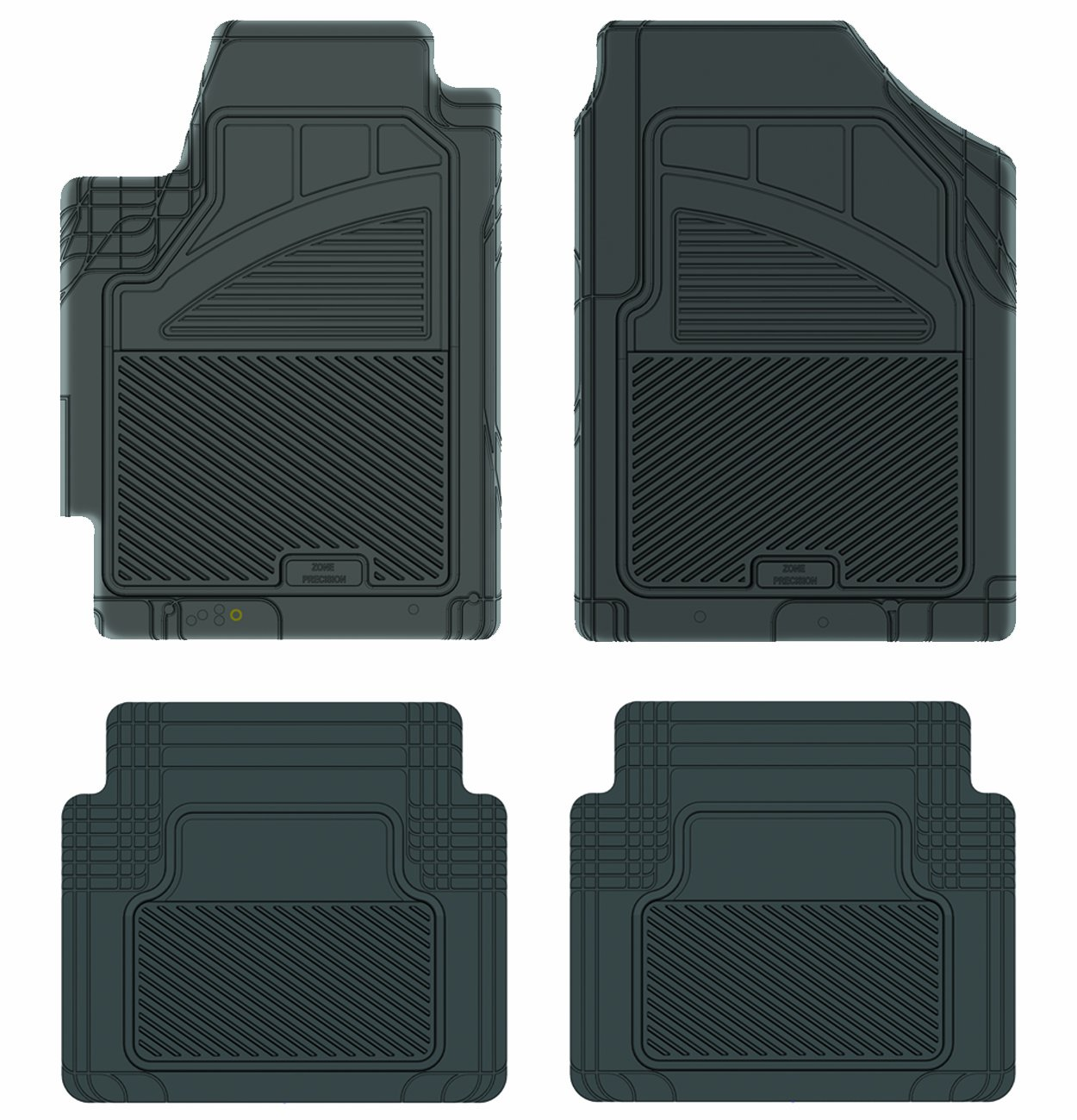 Black Koolatron Pants Saver Custom Fit 4 Piece All Weather Car Mat for Select Nissan Altima Models