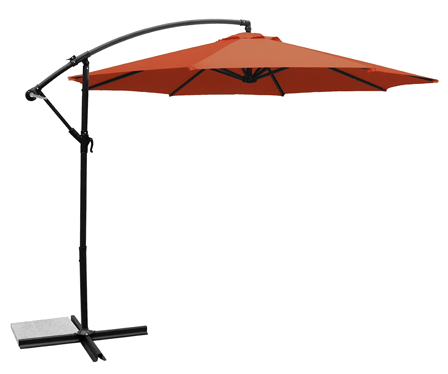 Amazon.com : Ace Evert Offset Umbrella 8074, 10 Ft, Polyester, Beige :  Patio Umbrellas : Garden U0026 Outdoor