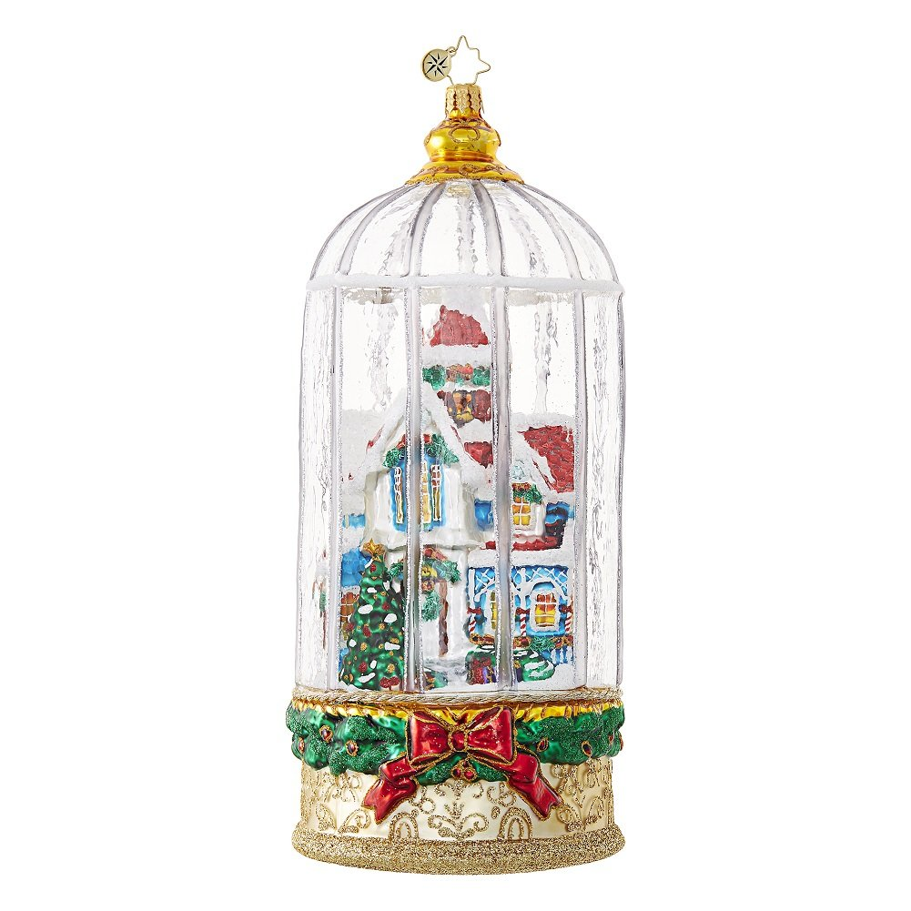 Christopher Radko Snowy Victorian Cage Cottage Limited Edition Christmas Ornament