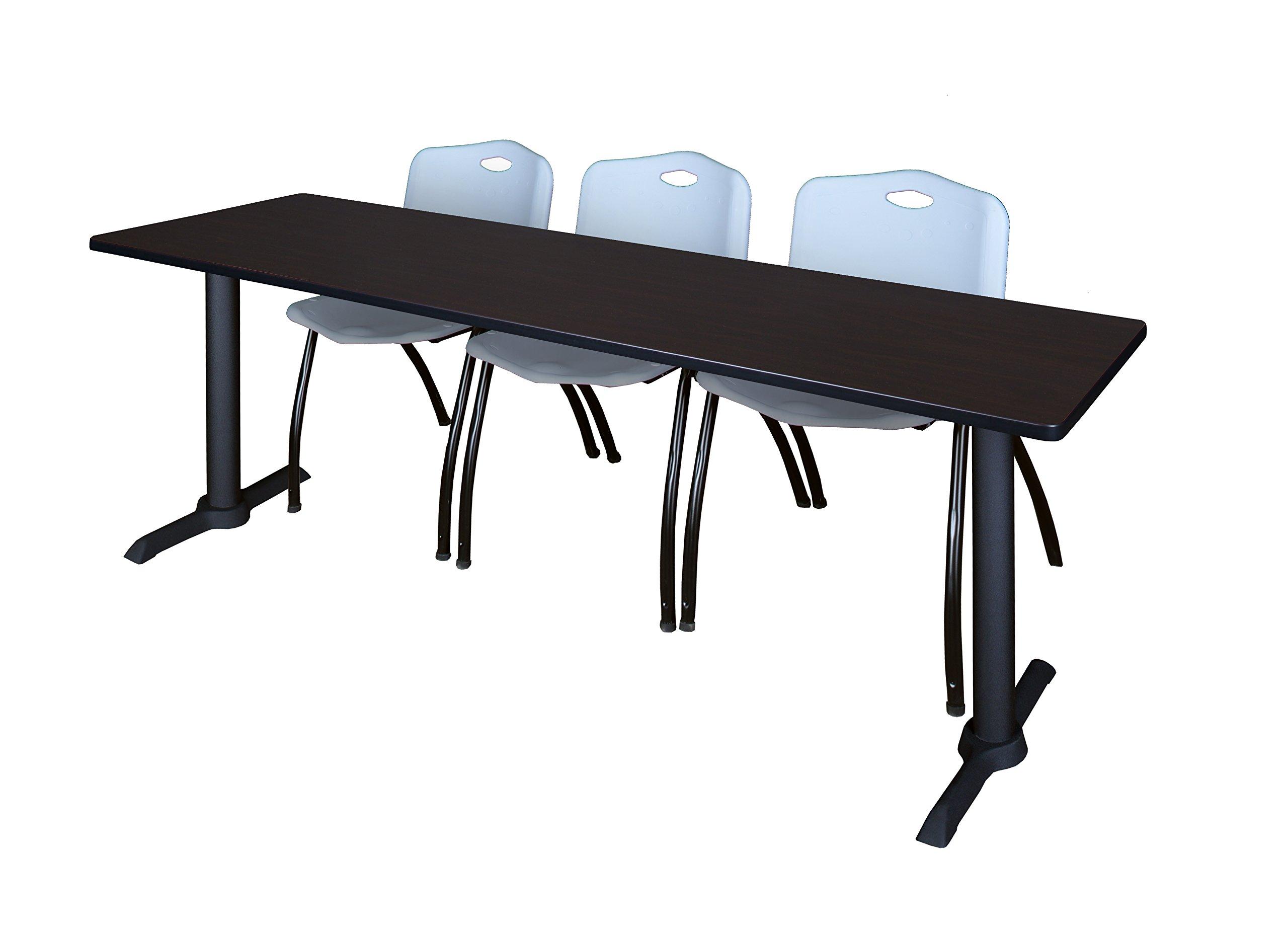Regency 84'' x 24'' Rectangle Laminate Table Top- Mahogany/ Mocha Walnut by Regency (Image #4)