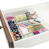 Break-Resistant Clear Plastic Drawer Organizers | 6 Piece Set