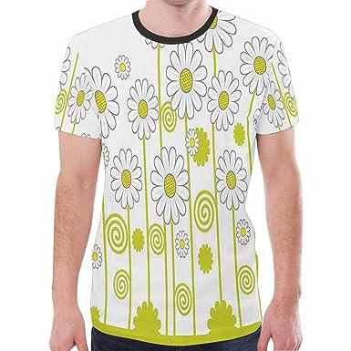 4f0a98cb1 Amazon.com: Ngjifvjishu Men's Blouse Short Sleeve Floral Print T ...