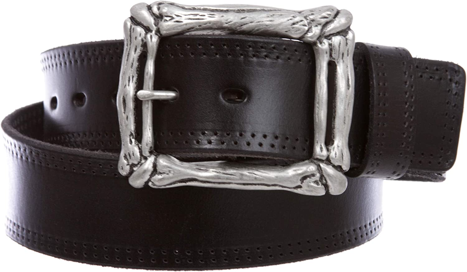 1 3//4 Snap on Cowboy Vintage Cowhide Thick Leather Casual Jean Belt